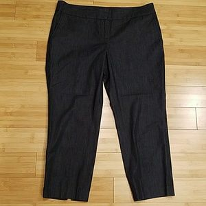 Loft Marisa Crop Pant in Dark Denim Color